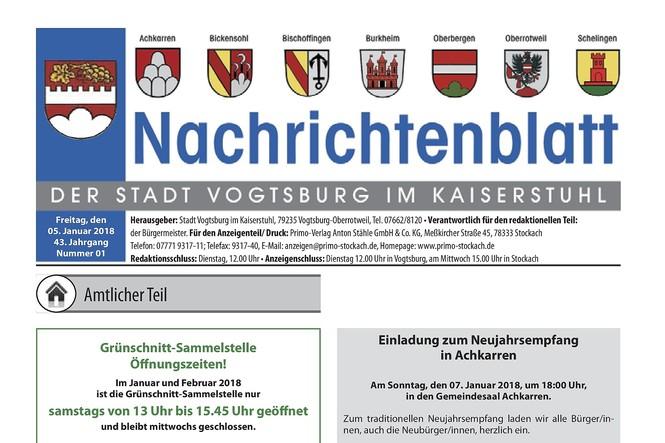 Nachrichtenblatt 01.2018