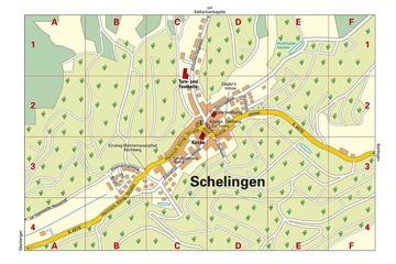 Ortsplan Schelingen