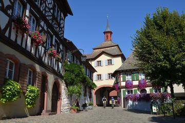 Burkheim mit Rad